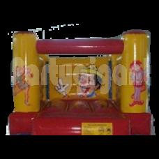 Springkussen de Clown  lxbxh 3x3x2.2m.